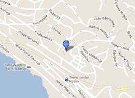 Location of the Dental Studio Majer in Rijeka